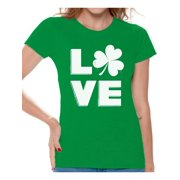 4ef8b13f9 Awkward Styles Love Shamrock Shirt Womens St Patricks Day Shirts Gifts for  Irish St Patricks Gift