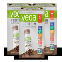 Vega Vegan Protein Shake, Chocolate, 20g Protein, 12 Ct