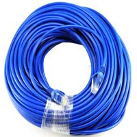 BLUE Gold Plated 50FT CAT5 CAT5e RJ45 PATCH ETHERNET NETWORK CABLE 50 FT For PC, Mac, Laptop, PS2, PS3 XBOX XBOX 360 XBOX ONE