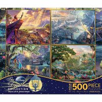 Ceaco 4-Pack Kinkade Disney Dreams Puzzles, 500 pieces each
