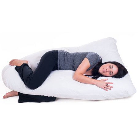 Pregnancy Pillow, Full Body Maternity Pillow with Contoured U-Shape by Bluestone, Back (Best Only Mannequins® Maternity Pillows)