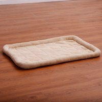 Costway Beige Pet Dog Cat Bed Cushion Mat Pad Kennel Crate Cozy Warm Soft House S size