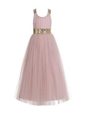EkidsBridal Wedding Cross Straps A-Line Flower Girl Dresses Pageant Dresses Junior Dress Holiday Dresses 173