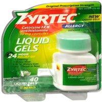 Zyrtec Allergy 10 mg Liquid Gels 40 Liquid Gels