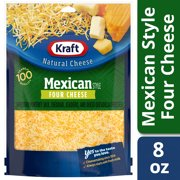 Kraft Shredded Mexican Style Four Cheese, 8 oz Pouch