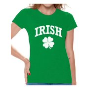 5a40b0ada Awkward Styles Four Leaf Clover St Patrick's Day Shirt Womens St Patrick's  Day Shirts Irish Shirts