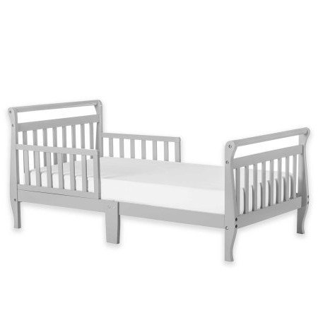Dream On Me Sleigh Toddler Bed, Multiple Finishes, With Bed Rails