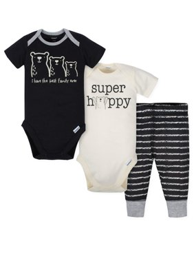 Short Sleeve Bodysuits and Active Pant Outfit Set, 3pc (Baby Boys)