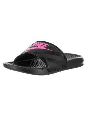 9c025fcf5e89d Product Image Nike Women s Benassi JDI Black Vivid Pink Slide Sandal Size 5