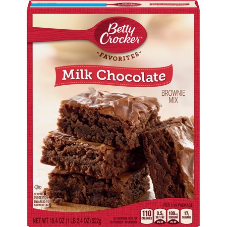 - (2 Pack) Betty Crocker Milk Chocolate Brownie Mix Family Size, 18.4 oz