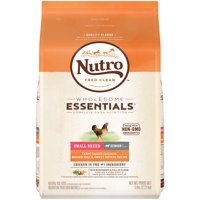 NUTRO WHOLESOME ESSENTIALS Senior Small Breed Dry Dog Food Farm-Raised Chicken, Brown Rice & Sweet Potato Recipe, 5 lb. Bag