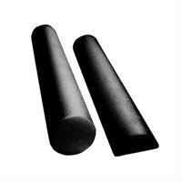 CanDo Black Composite High-Density Extra Firm Foam Roller - Round