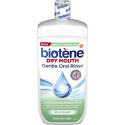 Biotene Mild Mint Moisturizing Gentle Oral Rinse, Alcohol-Free, for Dry Mouth, 33.8 ounce