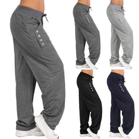 Women's Fashion Loose Casual Pure Color Harem Yoga Joggerpant Trousers Harem Women Trousers Pants - Toga Attire