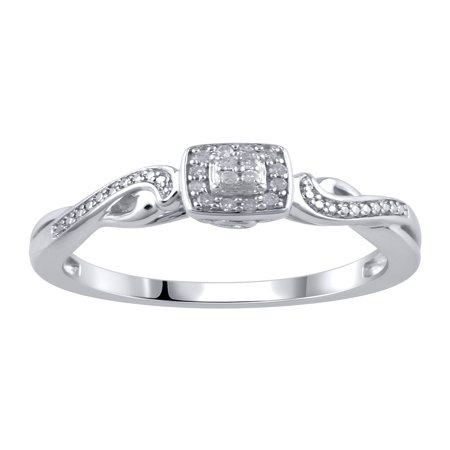 1/20 Carat T.W Sterling Silver Promise Ring ()