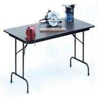 High Pressure Folding Table in Black Granite (18 in. x 48 in./Gray Granite)