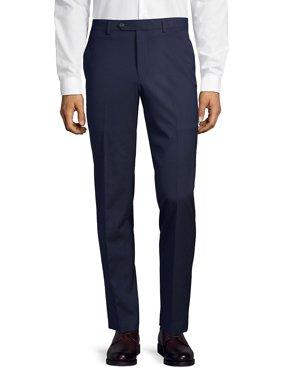 Straight-Leg Flat-Front Suit Separate Pants