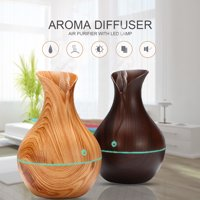 7 LED 130ML USB Charging Touch Wood Grain Air Humidifier Purifier Oil Diffuser Oil Diffuser Aroma Humidifier
