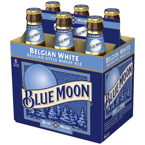 Blue Moon Belgian White Ale, 6 pack, 12 fl oz
