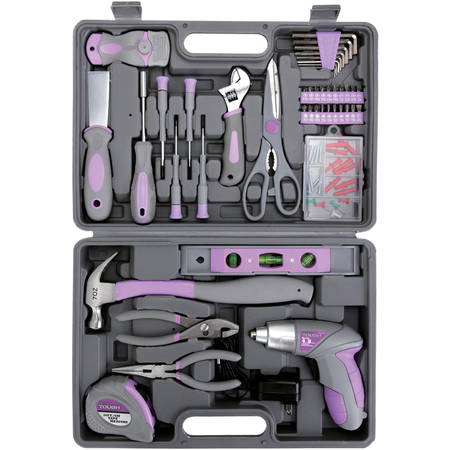 Hyper Tough 44-Piece Home Repair Tool Kit In Blow Mold Case, UJ84133G ()