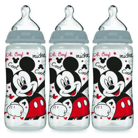Nuk Disney Baby Wide-Neck Bottles 0+m - 3 CT ()