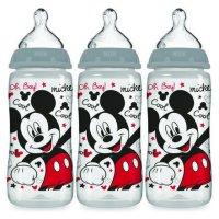 Nuk Disney Baby Wide-Neck Bottles 0+m - 3 CT