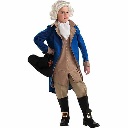 General George Washington Child Halloween Costume - Coffee Black Halloween Costume