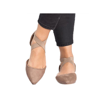 Women Ankle Strap Ballet Flats Criss Cross Shoes Casual Pump Comfy Shoes