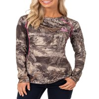 Mossy Oak and Realtree Ladies Colorblock Performance Tee