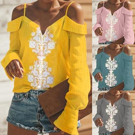 Sexy Women Off Shoulder Sleeeveless Casual Tops Blouse Crochet Cotton Linen Shirt