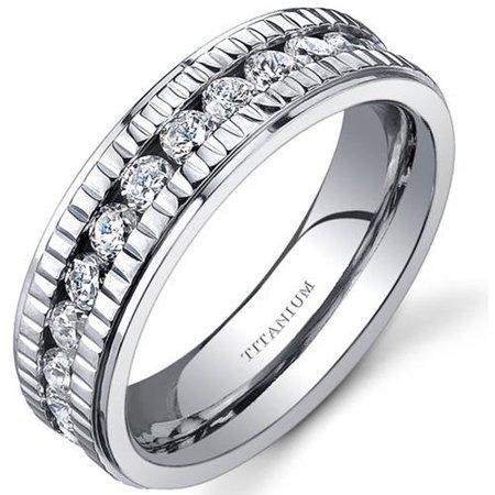 6.0mm Women's Titanium Wedding Band Ring