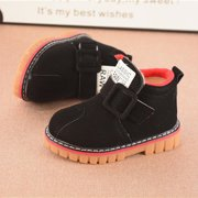 Infant Toddler Kids Baby Girls Boys Leather Shoes Winter Martin Snow Boots Shoes
