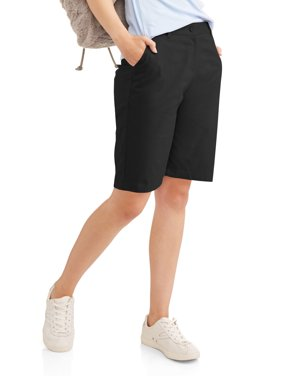 Juniors' School Uniform Stretch Twill Bermuda Shorts