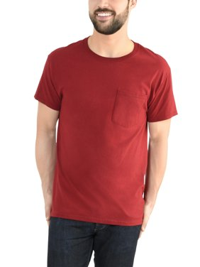 Fruit of the Loom Men's Platinum Eversoft Short Sleeve Pocket T-Shirt, up to Size 4XL