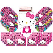 c1ce86420d54 Hello Kitty Party Supplies Bundle Pack for 16 (Bonus 14 Inch Balloon Plus  Party Planning