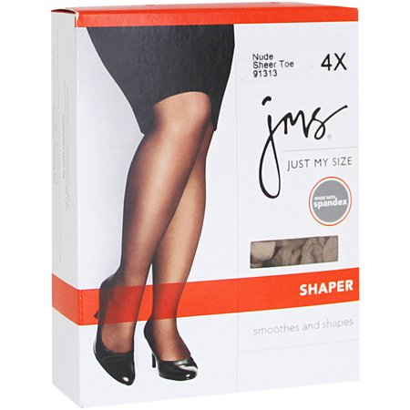 Just my size pantyhose shaper with sheer toe - Microfiber Plus Size Tights