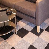 IncStores Berber Carpet Tiles 20 Tiles (20 Sqft) Peel and Stick Gunmetal (20 Tiles)
