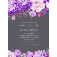 Enchanting Blossoms Standard Wedding Invitation