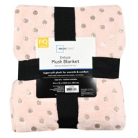 Mainstays Deluxe Plush Blanket Daylily Pink