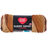 Red Heart Super Saver Yarn-Latte Stripe