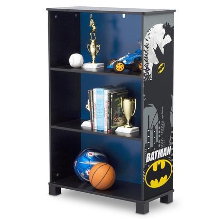 DC Comics Batman Deluxe 3-Shelf Wood Bookcase by Delta