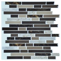 "12""x12"" Peel and Stick Tile for Kitchen Backsplash(6 Tiles)"