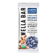 Wella Bar Organic Almond Blueberry Beanut Butter and Honey Protein Bar, 1.9 Oz.