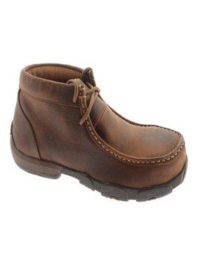 Women's Twisted X Boots WDMST01 Steel Toe Moc Work Shoe Dark Brown Full Grain 7 W