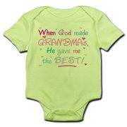 CafePress - GOD GAVE ME BEST GRANDMA Snap Body Shirt - Baby Light Bodysuit