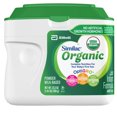 Similac Organic Infant Formula with Iron Baby Formula 23.2 oz Canisters (Pack of