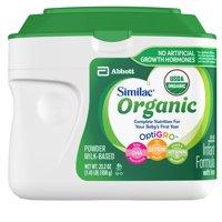 Similac Organic (6 Tubs) Non-GMO Infant Formula, (1-Month Supply) Powder, Baby Formula, 23.2 ounces