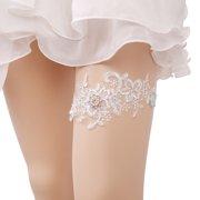 8efe1a945 Bridal Garter Elegant Elastic Rhinestone Artificial Pearl Lace Garter for  Wedding Prom Party