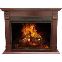 Decor Flame Electric Fireplace with 33