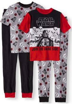 Boys' Star Wars 4 Piece Pajama Sleep Set (Little Boy & Big Boy)